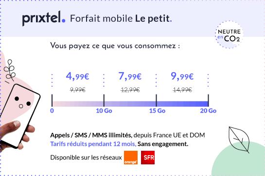 Description du forfait mobile Prixtel Le petit