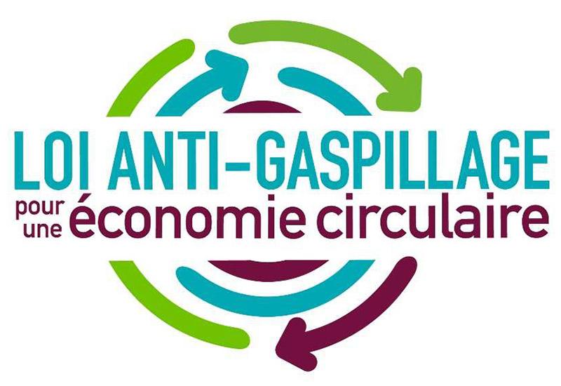 Logo de la loi anti-gaspillage en faveur de l'économie circulaire