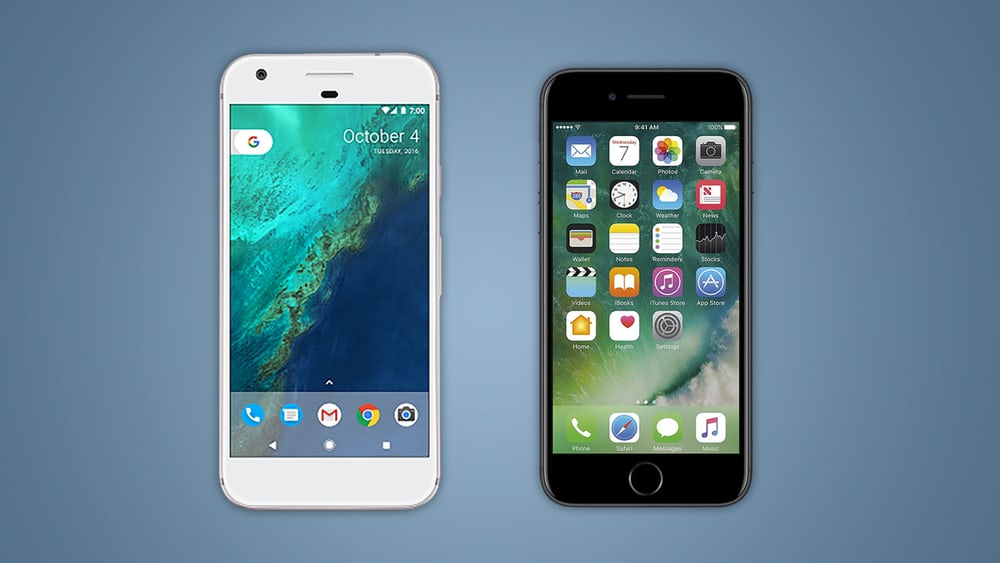 Google Pixel vs Apple iPhone 7