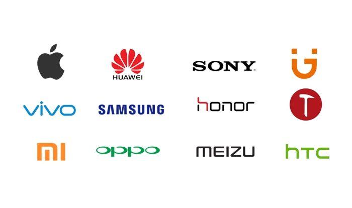 Logo des plus grandes marques de smartphones