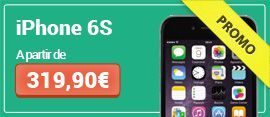 iPhone 6S 16Go à partir de 369,90€