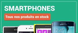Nos smartphones en stock