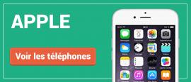 Tous nos téléphones Apple