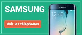 Tous nos smartphones Samsung
