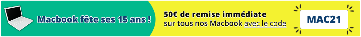 Promotion 15 ans du Macbook